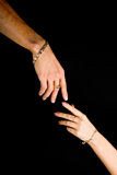 Human Hands With Jewelry Stock Photo