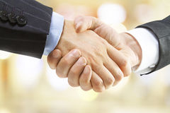 Human handshake Stock Photo