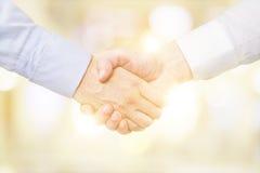 Human handshake Stock Images