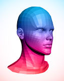 Human head. Abstract vector illustration Royalty Free Stock Image