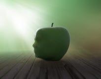 Human head apple Royalty Free Stock Photography