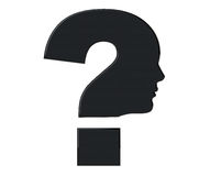 Human head as Question mark symbol Royalty Free Stock Image