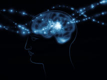 Human head and brain Royalty Free Stock Photography