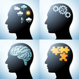 Human head with brain concepts Royalty Free Stock Photography