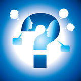 Human head chat with question mark Stock Images