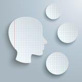 Human Head Checked Paper 3 Circles royalty free illustration