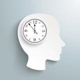 Human Head Clock Brain Royalty Free Stock Image