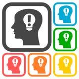 Human head, Creative Idea icons set Royalty Free Stock Images
