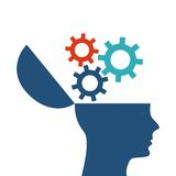 human head design. Creativity and think concept. Vector graphic Stock Images