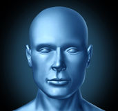Human head frontal view Stock Photo