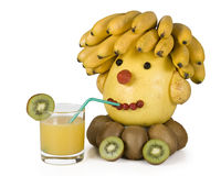 The human head from fruit. Royalty Free Stock Photo