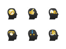 Human head icon set Royalty Free Stock Photo