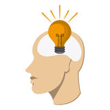 Human head icon. Thinking design. Vector graphic Royalty Free Stock Photography