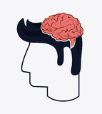 Human head icon. Thinking design. Vector graphic Royalty Free Stock Image