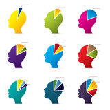 Human head infographic design. With diagram shapes Royalty Free Stock Photos