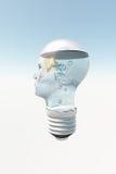 Human Head Lamp Goldfish. Human Head Lamp With Goldfish Royalty Free Stock Photos