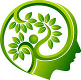 Human head leaf logo Stock Photo