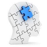 Human head made of puzzle pieces Stock Photography