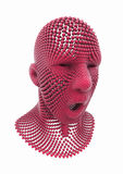 Human Head made of Spheres Stock Image