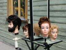 Human head mannequins Royalty Free Stock Photo