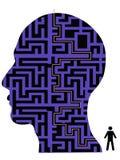 Human head maze Royalty Free Stock Image