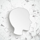Human Head Neural Network Connected Dots Royalty Free Stock Photos
