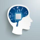 Human Head Processor Brain Stock Photos