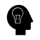 Human head profile with bulb. Vector illustration design Royalty Free Stock Image
