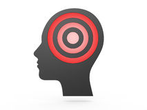 Human Head and Red Target Stock Images