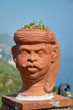 Human Head-Shaped Flower Pot Stock Photography