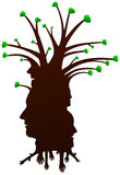 Human Head silhouette as a tree Stock Photography