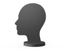 Human Head Silhouette Royalty Free Stock Photography