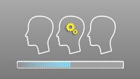 Human head silhouette Stock Image