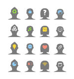 Human Head Silhouettes With Different Ideas Stock Images