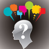 Human head with speech bubble Stock Photography