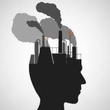 Human head. Stock illustration. Stock Images