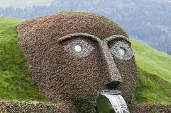 Human head in Swarovski park Royalty Free Stock Photos