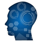 Human Head With Technical Elements Royalty Free Stock Photography