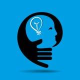 Human head thinking a new idea Royalty Free Stock Images