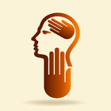 Human head thinking a new idea Stock Images