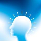 Human head thinking a new idea Stock Image
