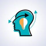 Human head thinking a new idea Royalty Free Stock Photos