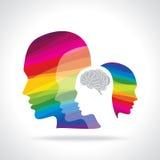Human head thinking a new idea Royalty Free Stock Image