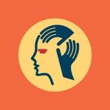 Human head thinking a new idea Stock Images