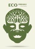human head and tree shape look like a brain Royalty Free Stock Image