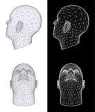 Human head. Vector Illustration Royalty Free Stock Image