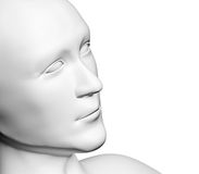 Human head of white color Stock Photos