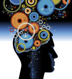 Human Head With Gears Royalty Free Stock Photography