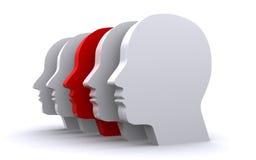 Human heads Stock Image