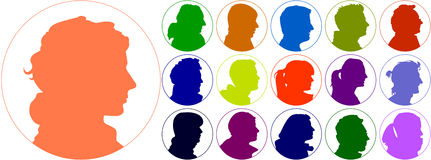 Human heads - illustration Stock Images
